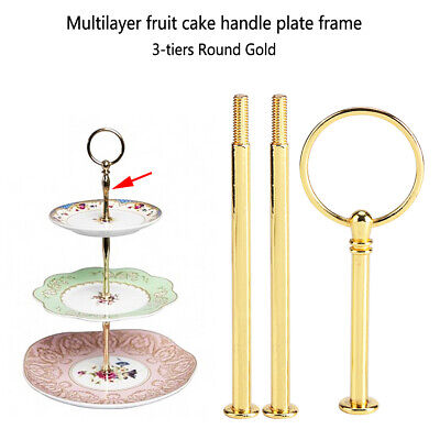 £4.24 • Buy 3Tier Cake Fruit Plate Cupcake Stand Rack Fittings Rod Wedding Party Decor Crown