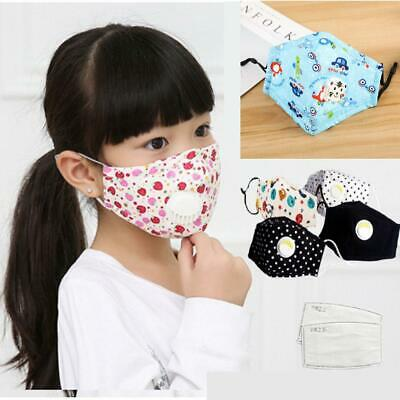 $ CDN8.99 • Buy Children Cotton Face Mask With Breathing Valve PM2.5 Filter Protective 0016