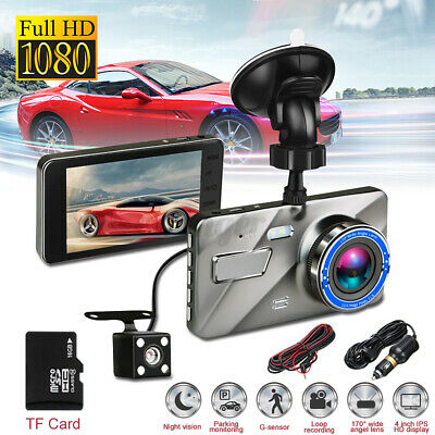 AU39.98 • Buy 170° DVR Recorder 4'' Dash Cam FHD 1080P Front And Rear Car Dashboard Camera AU
