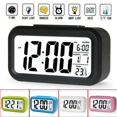 AU19.61 • Buy LED Digital Clock Backlight Light Control LCD Snooze Electronic Bed Alarm Clocks