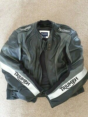 Triumph Leather Racing Jacket And Trouser Set (with Armour) • 215£