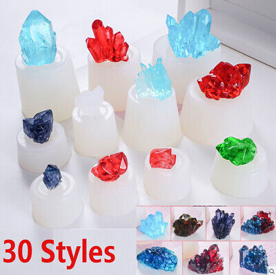 Silicone 3D Crystal Cluster Stone Resin Casting Mold Jewelry Epoxy Mould Craft • 3.39£