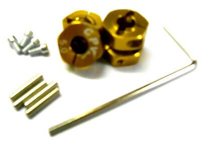 £7.99 • Buy 1/10 Scale RC Car 12mm Alloy Wheel Locking Screw Hex Hubs Adapter Nut Gold 5mm