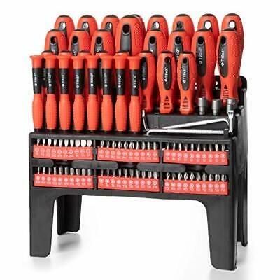 View Details 100 Piece Magnetic Screwdriver Set With Organizer Rack • 35.99$