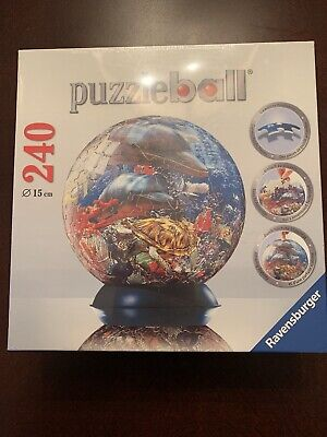 $24.99 • Buy Ravensburger Jigsaw Puzzleball Puzzle 240 Pc. OCEAN WORLD (NEW Shrink Wrapped)