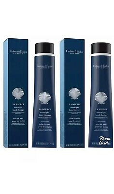 CRABTREE AND EVELYN La Source OverNight Hand Therapy 75g X2 New • 35£