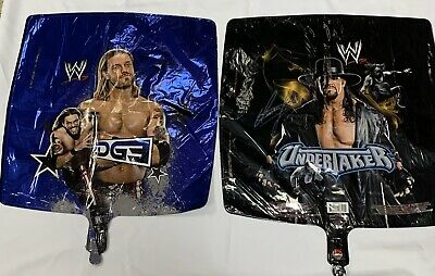2- NEW WWE  Undertaker Foil MYLAR BALLOON 18  Doble Side PARTY SUPPLIES • 9.19£