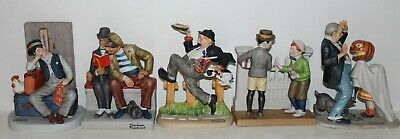 $ CDN56.49 • Buy 1980 Norman Rockwell Set Of 5 Excellent Porcelain Bisque Figures Hand Made Japan
