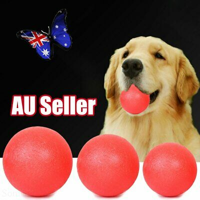 AU12.35 • Buy Indestructible Training Toy Rubber Ball Pet Puppy Dog Chew Play Fetch Bite AU