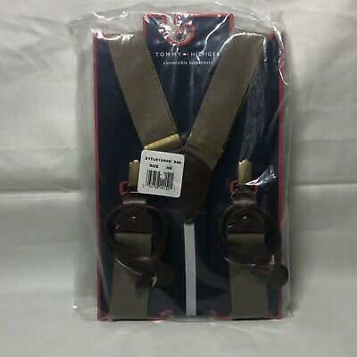 $11.95 • Buy Tommy Hilfiger Convertible Grey Suspenders NWT Medium Up To 42
