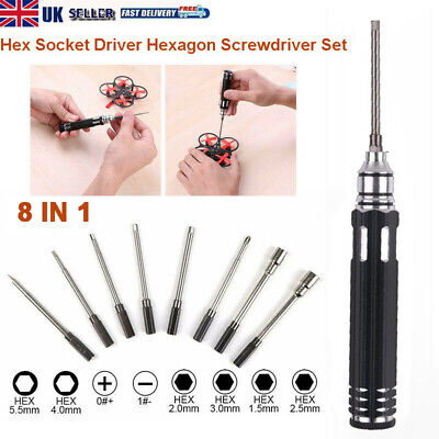 8 In 1 Hex Screwdrivers Repair Tool Kit Set For RC Drone Helicopter Boat Car Toy • 11.99£