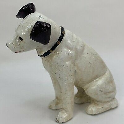 HMV's The Nipper Dog - Small - Money Box Piggy Bank Coin Jar - Cast Iron Statue • 13.99£