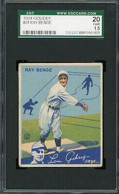 $24.99 • Buy 1934 Goudey #24  Ray Benge  Dodgers  SGC 20 !!!