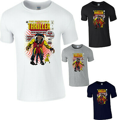 Michael Jackson Thriller T-Shirt The Incredible Thriller Legend King Of Pop Top • 6.99£