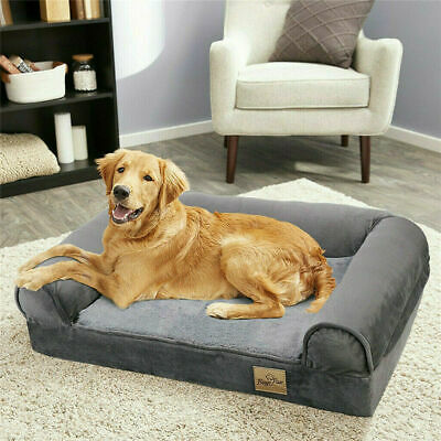 Waterproof Large Memory Foam Dog Bed Pet Cuddler Couch Lounger Removable Cover • 45.97£