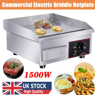 Commercial Electric Griddle Kitchen Hotplate Countertop BBQ Grill Bacon 1.5KW UK • 61.98£
