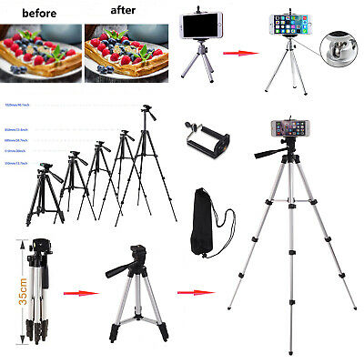 Universal Camera  Adjustable Monopod Tripod Stand + Bag For Phone IPhone Holder • 8.99£