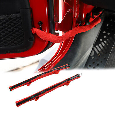 $15.02 • Buy 2x Door Limiting Check Straps With Zipper For Jeep Wrangler JK JL 2007+ & JT2020