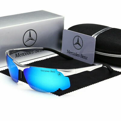 Mercedes Men's Polarized Sunglasses UV Protection Al-Mg Metal Frame Ultra Light • 15.99£