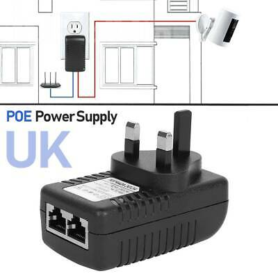 £6.99 • Buy POE Power Supply 0.5A/48V POE Injector Adapter UK Wall Plug Power Over Ethernet