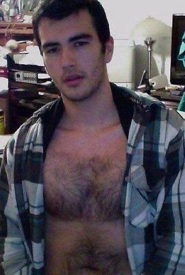 $ CDN4.40 • Buy Shirtless Male Handsome Dude Hairy Chest Facial Hair Dude  PHOTO 4X6 D387