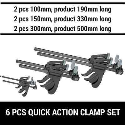 AU49.99 • Buy *6pcs Quick-grip One Handed Bar Clamp F Clamp Hand Trigger Action Clamp 6pcs Set