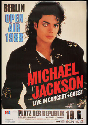 Vintage Music Poster Art - Michael Jackson In Berlin   A2 Size • 8.50£
