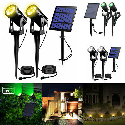 Outdoor Solar Spot Lights Garden Light Waterproof LED Spotlight Yard Patio Lamp • 14.99£