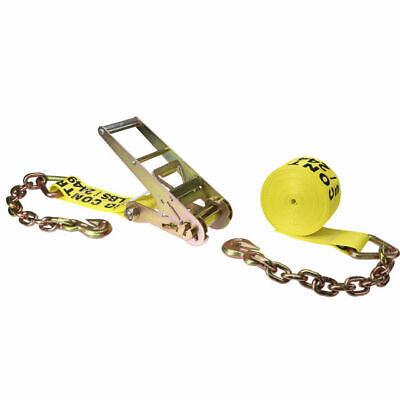 $69.99 • Buy 3  X 30' Ratchet Strap With Chain Extensions & Clevis Grab Hooks