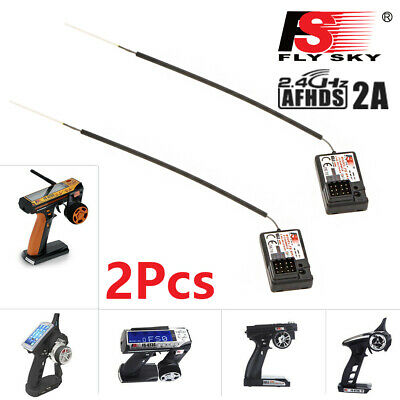2Pcs Flysky FS-GR3E AFHDS 2.4G 3CH Receiver For GT3B GT2 GT3C Transmitter RC Car • 12.55£