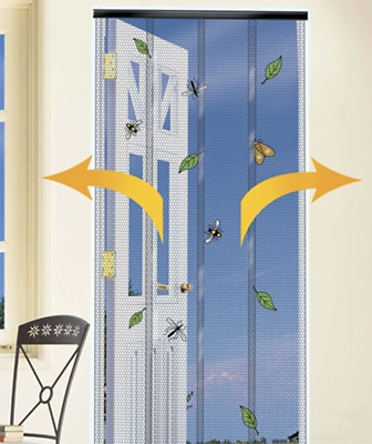 £16.95 • Buy STV Buzz Doorway Insect Curtain Fly Blind / Mesh For Doors CHARCOAL Strip Blind