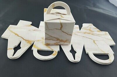 50 Marble Favour/Cake Box/Helium Balloon Weights Wedding Christening Party Xmas • 6.50£