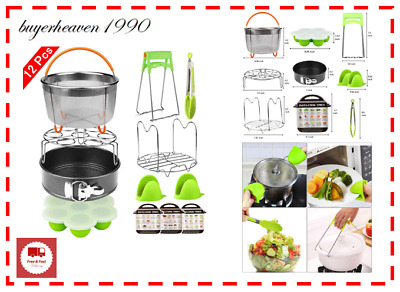 $38.99 • Buy 12 Pieces Instant Pot Accessories Set Fits 6 To 8 Quart Cooker W Steamer Basket