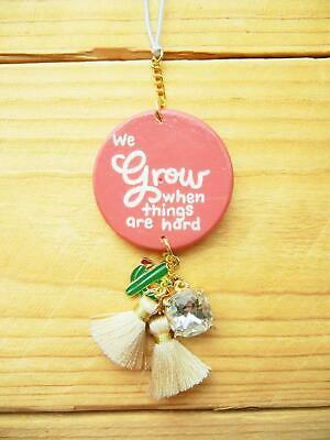 $16.90 • Buy Cactus Car Mirror Charm, Rearview Accessories For Women, Anxiety Quote Gift