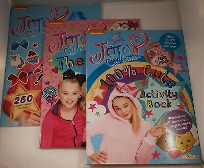 AU15 • Buy NICKELODEON JoJo Siwa Set Of 3 Activity & Sticker Books