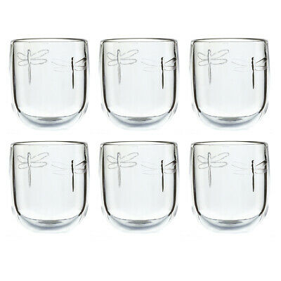 La Rochere Set Of 6 Libellule Tumblers, 28cl Drinks Water Decorated Glassware • 33.80£