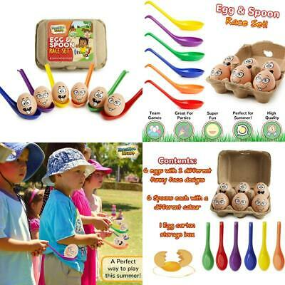 Kreativekraft Outdoor Games For Kids, Egg And Spoon Race Game For Garden, Outdoo • 10.99£