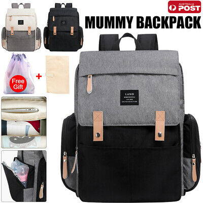 AU32.97 • Buy 2020 GENUINE LAND Multifunctional Babys Diaper Backpack Changing Bag Nappy Mummy
