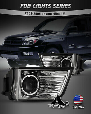 $38.35 • Buy For 2003-2005 Toyota 4Runner Fog Lights Pair Clear Lens Projector Driving Lamps
