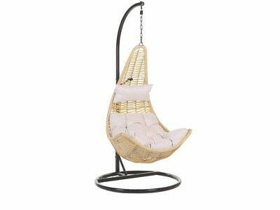 Rattan Hanging Chair With Stand Beige ATRI II • 249£