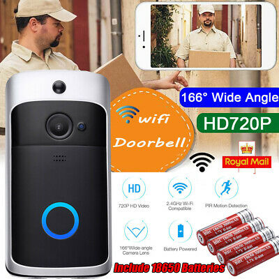 Wireless WiFi Video Doorbell Smart Phone Door Ring Intercom Camera Security Bell • 25.99£