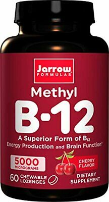 Jarrow Formulas Methylcobalamin (Methyl B12), Supports Brain Cells, 5000 Mcg, 60 • 17.94£