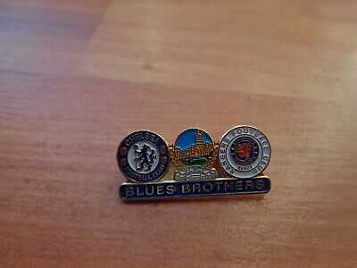 £7.99 • Buy Rangers Chelsea & Linfield Crests Friendship Blue Brothers Loyalists Badge