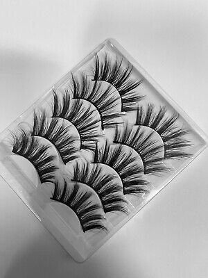 AU9.55 • Buy 3D Mink Handmade Fake Eyelashes 5pairs Natural Long Wispy Makeup False Lashes