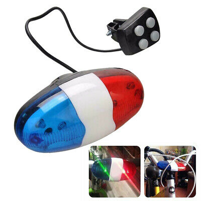 6-LEDs Bike Bicycle Police Front Light Warning Siren Cycling Electric Horn Bell • 4.99£