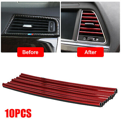 $8.27 • Buy 10pcs Auto Car Accessories Decoration Air Conditioner Air Outlet Strip Universal