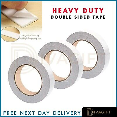 Heavy Duty Strong Double Sided Sticky Tape Foam Adhesive Craft Padded Mounting • 2.99£