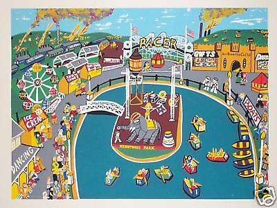 $29.99 • Buy KATHLEEN FERRI Kennywood Serigraph Test Print Unsigned