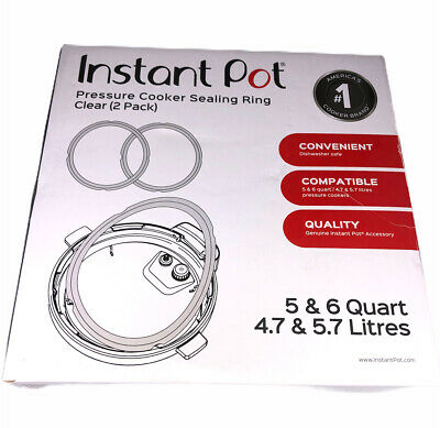 $15 • Buy NEW Instant Pot Sealing Ring 2 Pack Clear – 5 Or 6 Quart