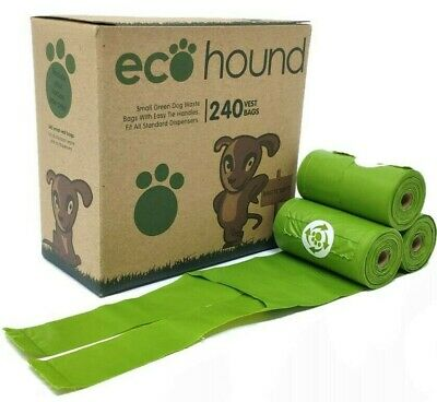 £9.95 • Buy Ecohound ECO Dog Poo Bags SMALL Biodegradable Bags With HANDLES 1 BOX-240 BAGS!